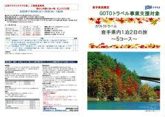 2020/09/17 岩手県内1泊2日の旅 5コース【GoToトラベル】